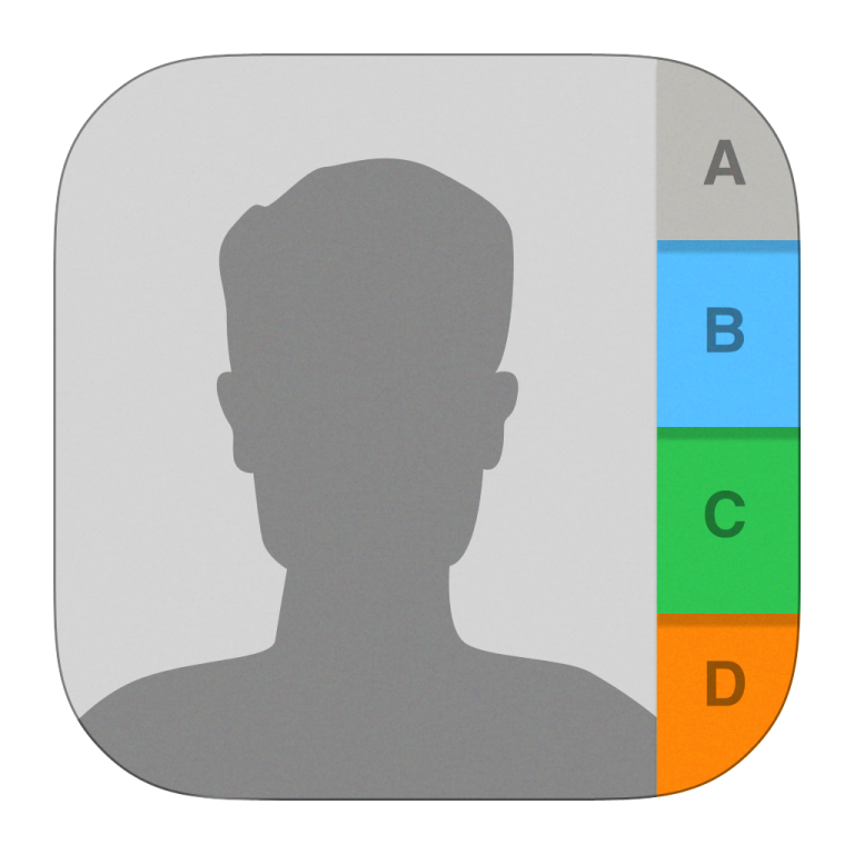 Apple contacts icon 768x768