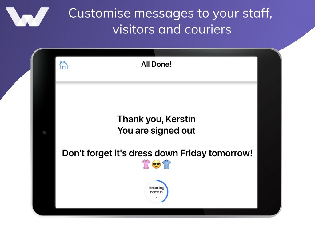 customise messages feature