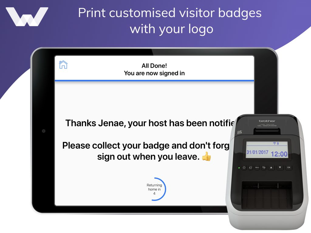 badge printing feature