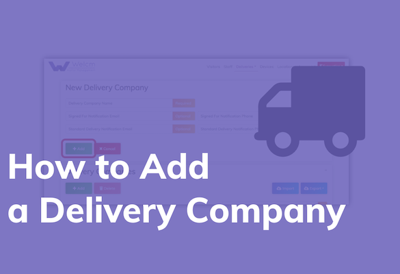 How to add a delivery company