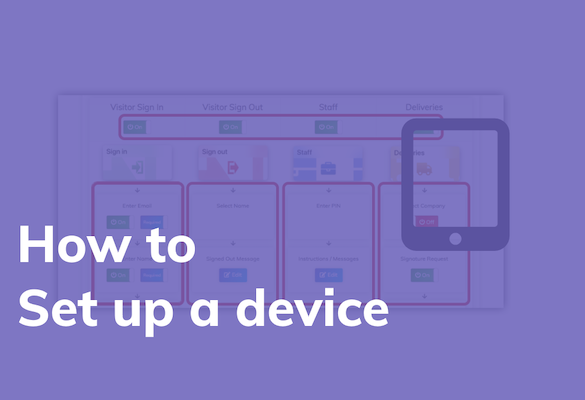 How to set up a device